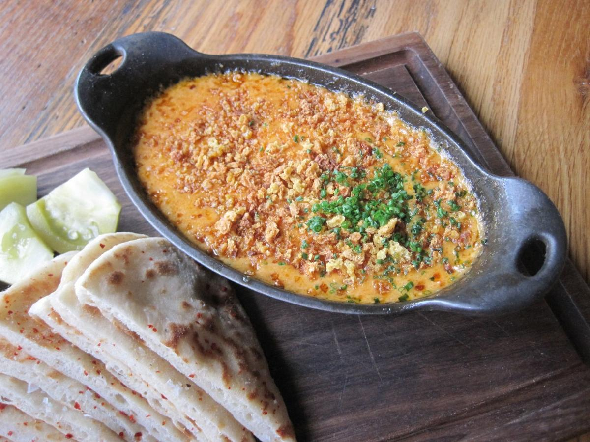 Special Request: Juniper's pimento cheese dip is served warm