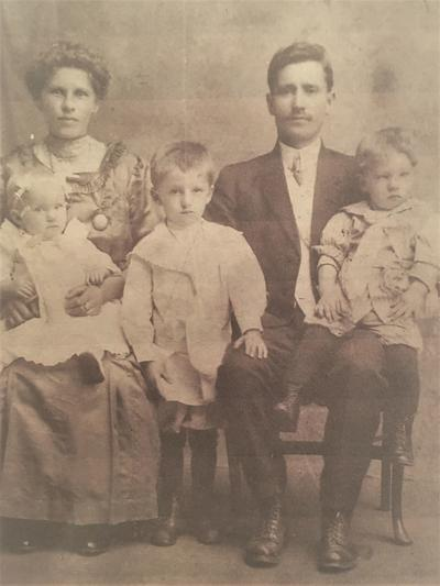 Photograph of Gasparovic family