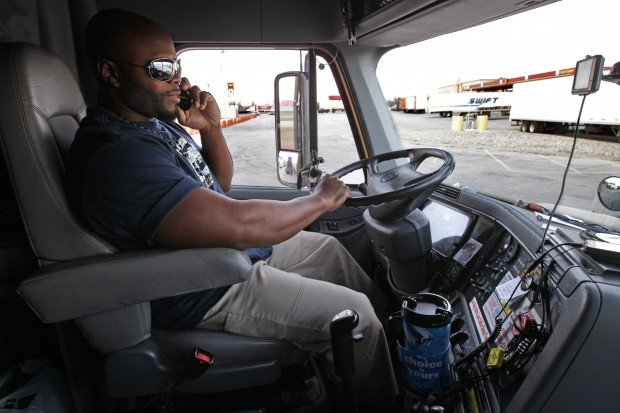 Commercial driver using a cell phone