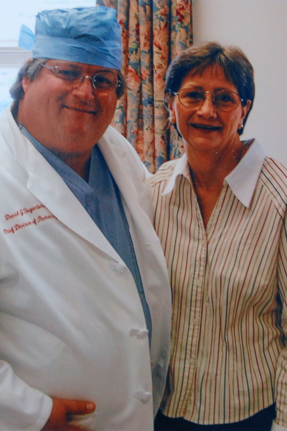 Darlene Coker is shown with her thoracic surgeon David Sugarbaker in this copy of a personal family photograph