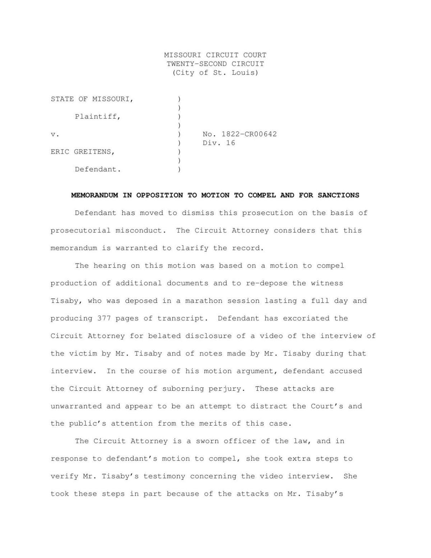 Circuit attorney memo