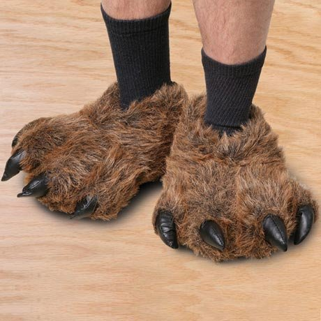 c93735190e8 1 of 2. High   Low  Grizzly Bear slippers