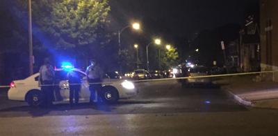 Homicide scene in 3000 block of Miami Street