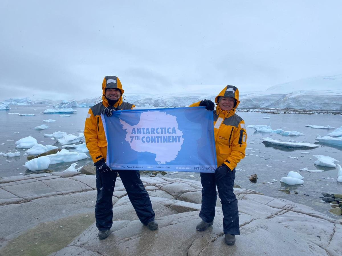 Gregg and Laura Arst in Antarctica
