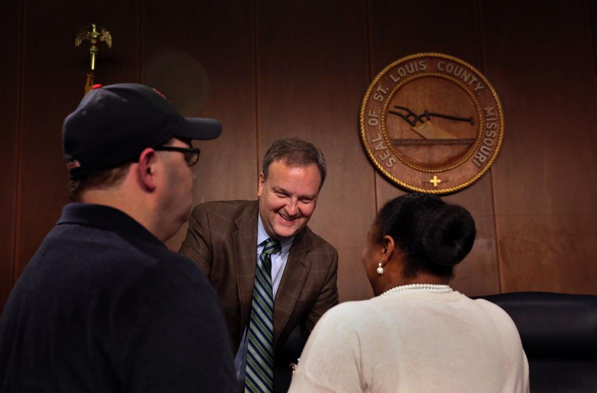 Sam Page attends first county council meeting as county executive