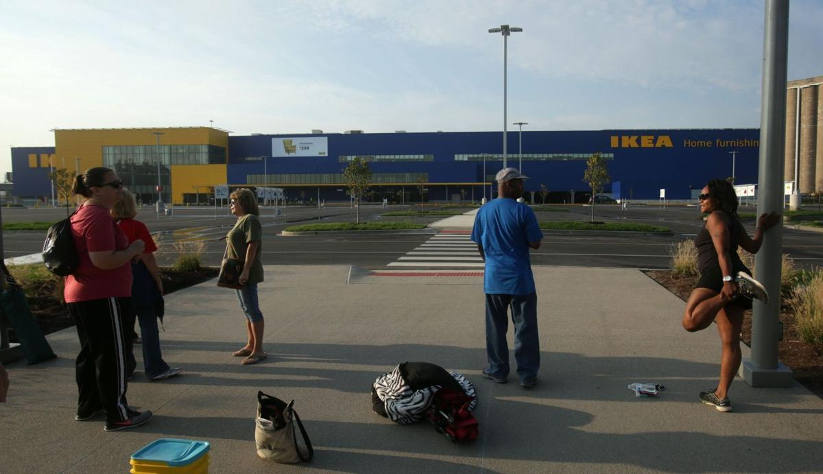 Line already started for St. Louis Ikea opening- stretching