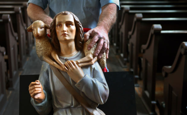 Old Cathedral parishioners display Civil War-era Nativity scene