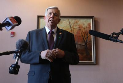 Gov. Mike Parson visits vaccination clinics in St. Louis metropolitan area