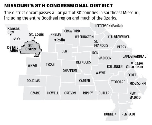 8th Congressional District map