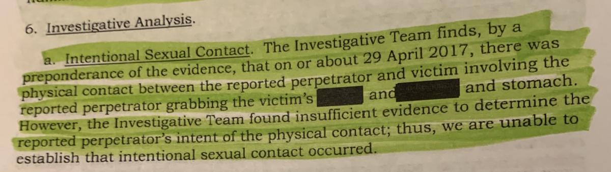 Sexton Investigative Report