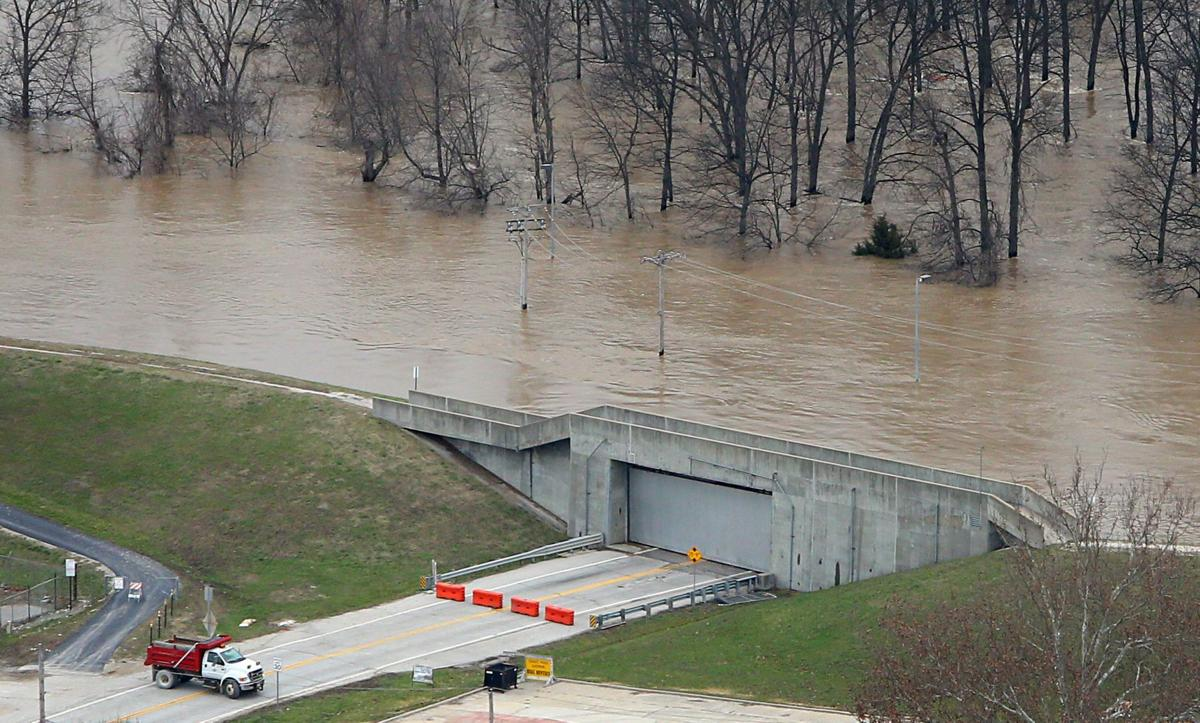 Historic flooding on the Meramec River, Valley Park