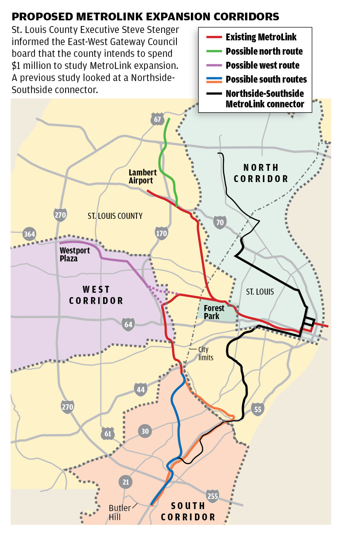 St Louis County faces steep odds getting MetroLink on expansion
