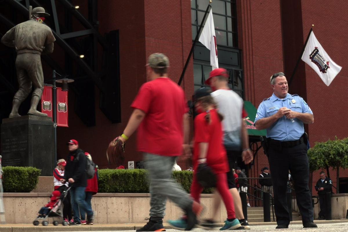 Police patrol Busch Stadium