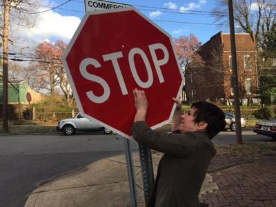 Cara Spencer stop sign