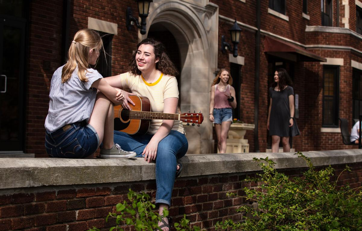 Paige Meyer '22 found her Drury Fusion: Criminology + Psychology + Drury Singers. The unique curriculum lets students find a path that fits both their passion and professional interests. Photo provided by Drury University
