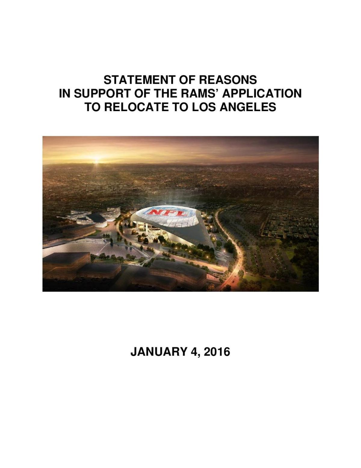 Rams NFL relocation submission