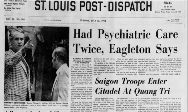 Front page of Post-Dispatch on July 25, 1972