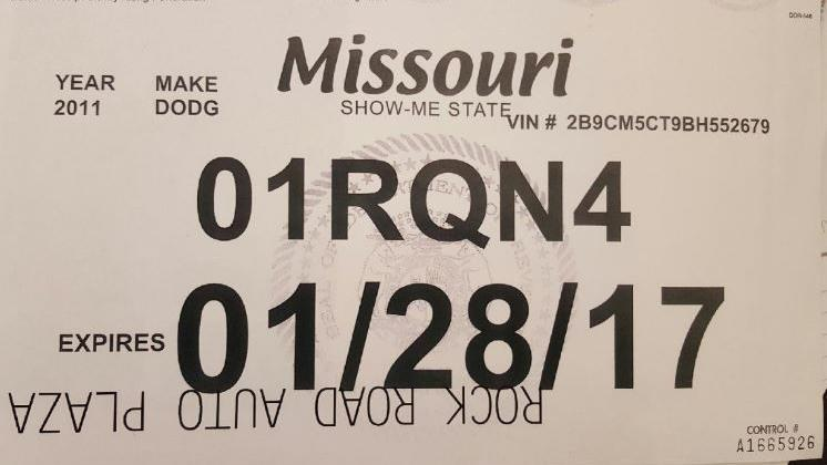 Temporary Tags Expired >> New Missouri Law Requires Drivers To Turn In Temporary License Tags