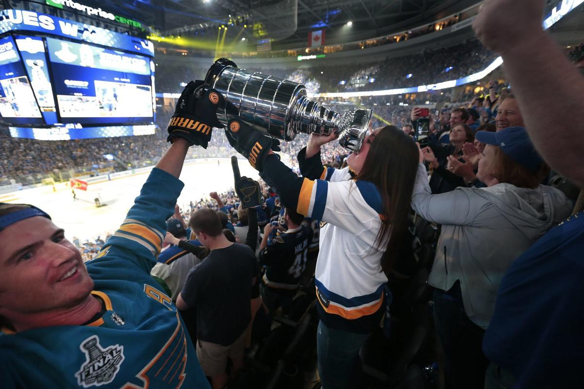 Photos: St Louis fans gather to watch the Blues beat the Bruins for the Cup