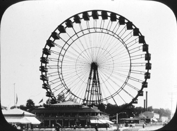 a86a711e86a4 This view of the giant Ferris wheel at the 1904 World s Fair in St. Louis  is from a glass slide taken by Edward Daniels.