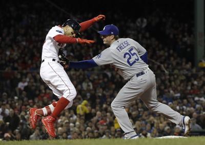 APTOPIX World Series Dodgers Red Sox Baseball