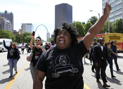 VonDerrit Myers protest in downtown St. Louis