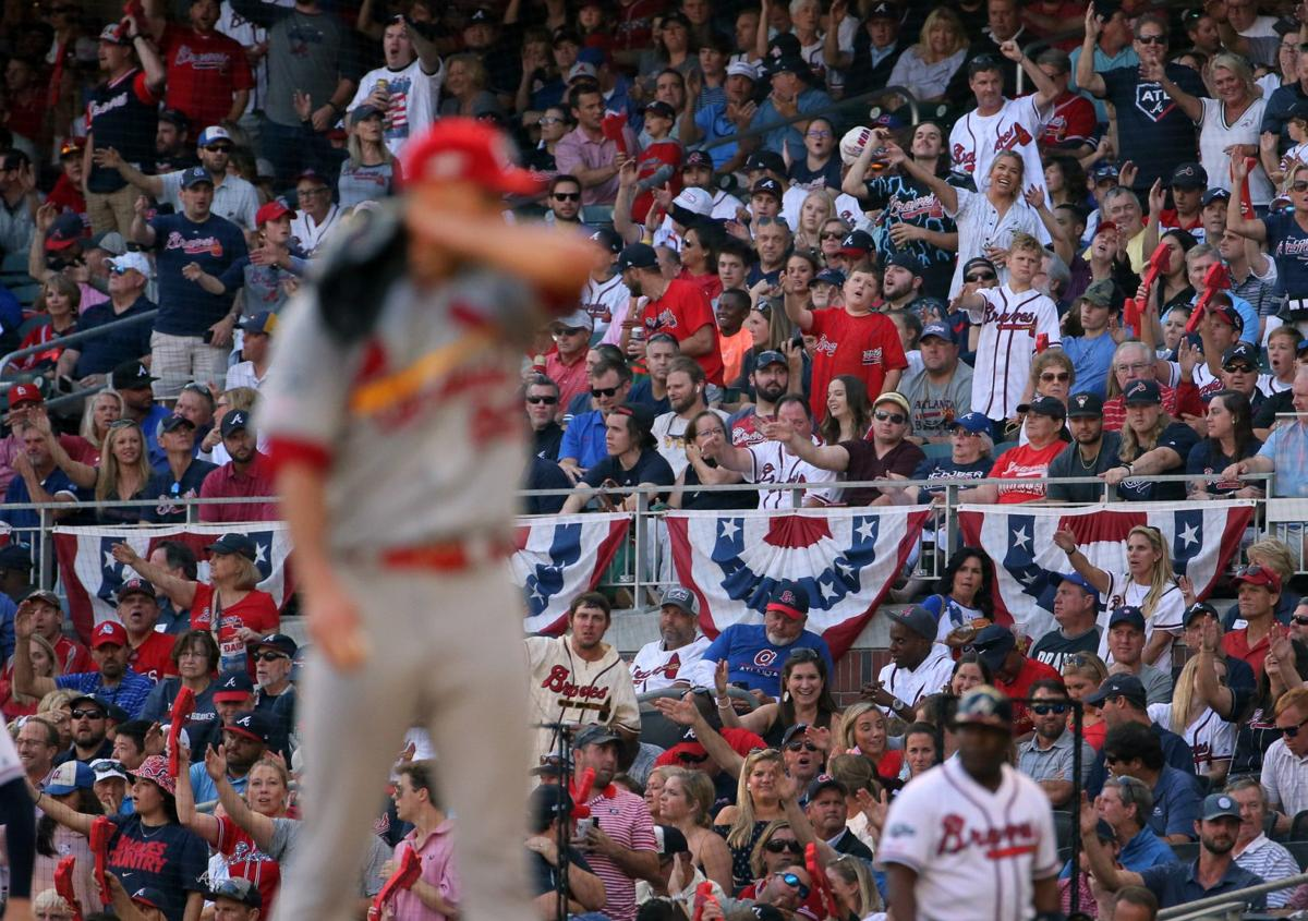 Fans chop cheer during NLDS Game 5 vs. Braves