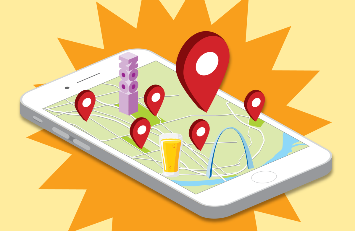Apps, maps and lists: Use your smartphone to explore St. Louis this on programming language map, honey map, cauldron map, alchemy map, halloween map, freshwater map, silver map, fancy map, ruby map, amulet map, potter map,