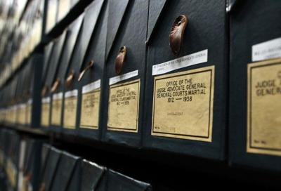 Records stored at the National Archives