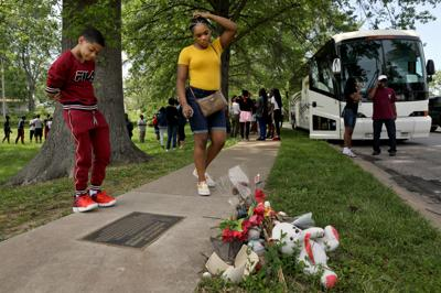 Michael Brown memorial on Canfield Drive in Ferguson