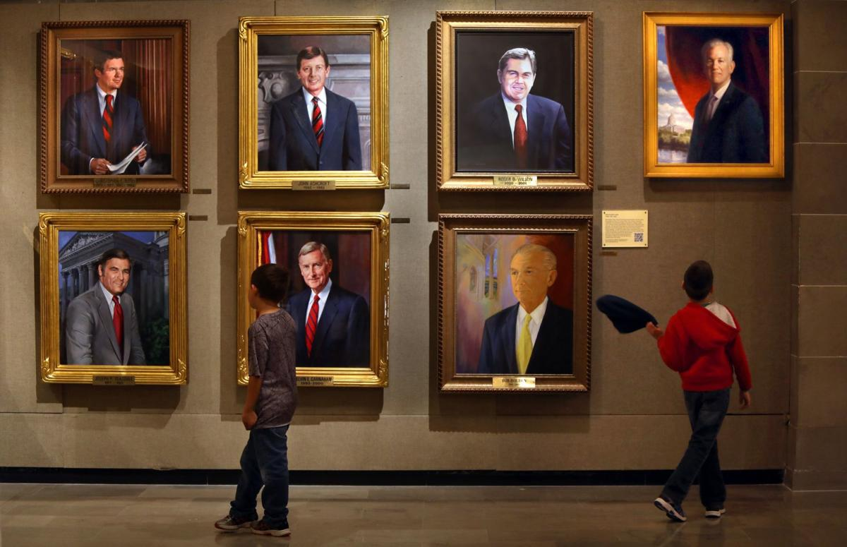 Wall of past Missouri governors
