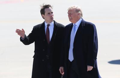 President Trump arrives at Lambert