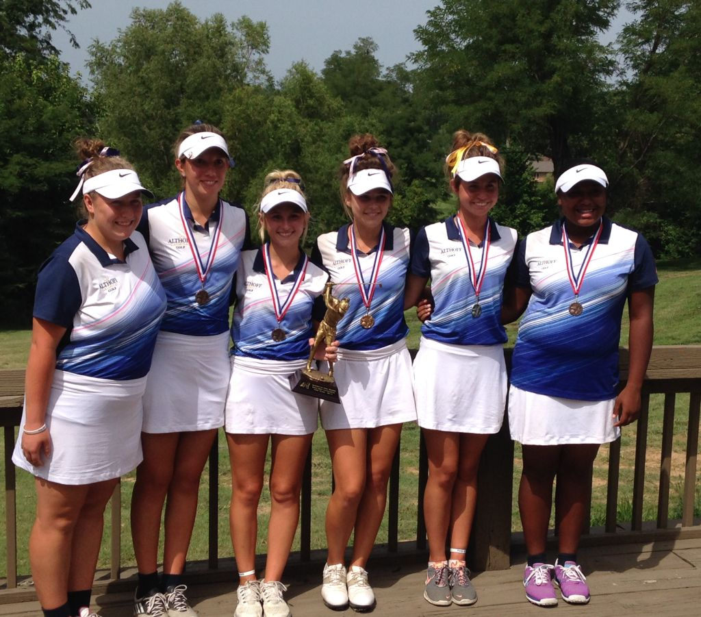 Althoff girls golf team