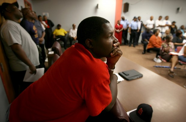 East Louis lays off close to 30 percent of its police force.