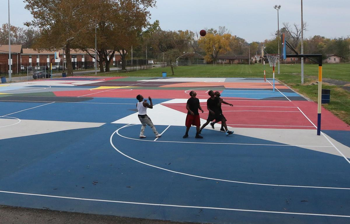 20 000 square feet of hope basketball court in kinloch for How many square feet is a basketball court