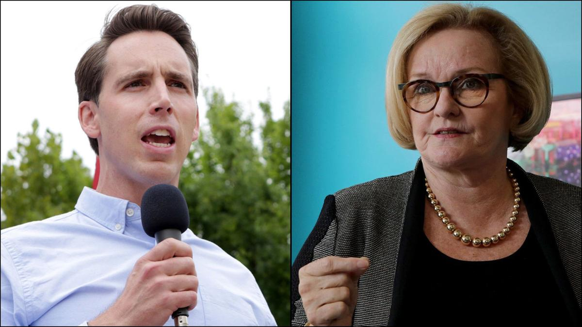 Republican Attorney General Josh Hawley and Democrat Sen. Claire McCaskill