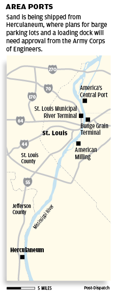 Ports of St. Louis area map