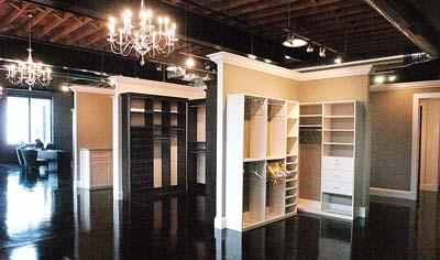 Closet maker walks in to bigger space