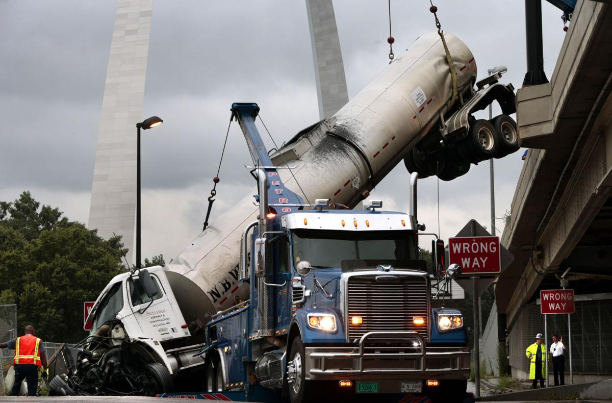 Tanker hangs from i 44 over downtown buy now
