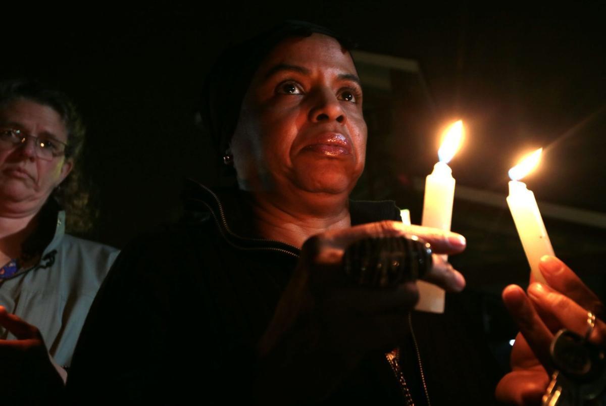 Candlelight vigil - prays for black lives, police, and change