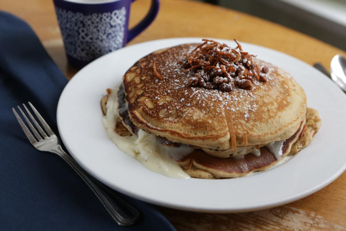 Special request: Half & Half carrot cake pancakes