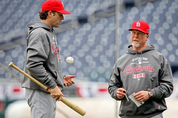 St. Louis Cardinals and Washington Nationals practice for Game 3 of NLDS