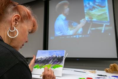 Grant's View library hosts 'Paint with Bob Ross'