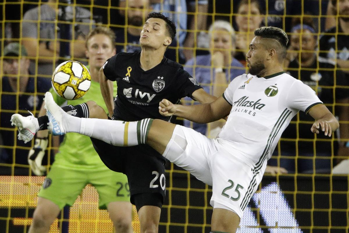 MLS Timbers Sporting KC Soccer