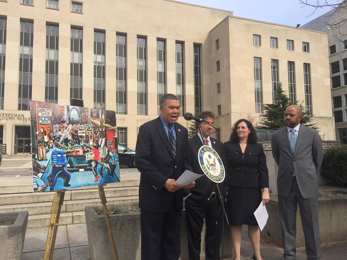 Rep. Lacy Clay announces lawsuit to rehang painting