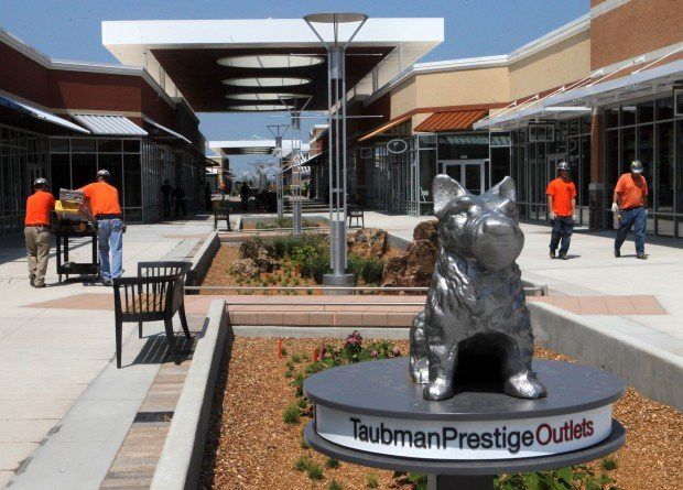 "The Taubman Prestige Outlets in Chesterfield will be re-branded as a development called ""The District,"