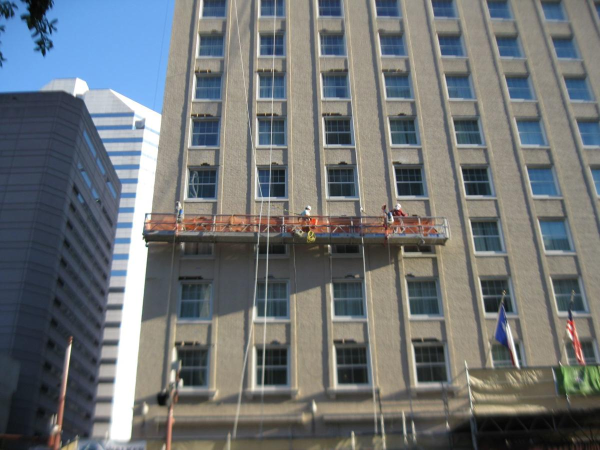 The Lancaster Hotel facade restoration
