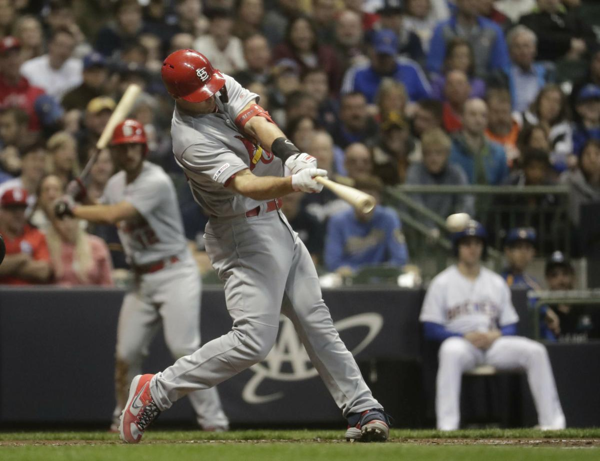Goldschmidt rips three homers as Cards pound Brewers 9-5