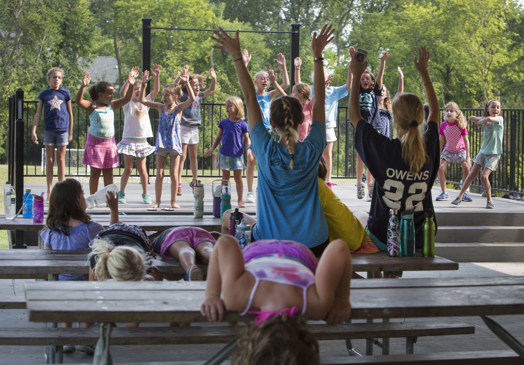 At Camp Pegnita In Kirkwood, 1280 Simmons, Thursday, August 2, 2017, A  Group Of Girls Rehearse Their Dance Review For Parentsu0027 Night Led By The  Camp ...