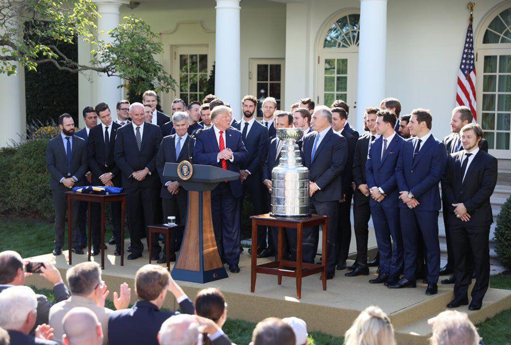 Photos: The Blues visit the White House, president